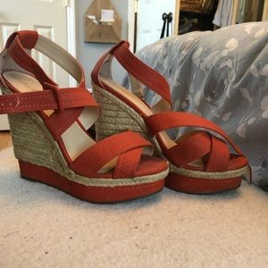 Orange Aldo wedges